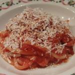 はなう - トマトとベーコンのブカティーニ リコッタサラータのせ