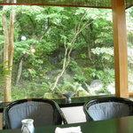 4406688 - テーブルからの眺め、小さな滝