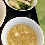 麗華 - 2015/11 ランチのサラダ&スープ