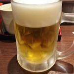 串カツ まる - 生ビールUP♪(生ビールセット)♪