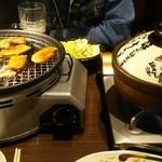 44065370 - 食べ放題コースの焼肉と鍋(オープン前)です (11/2)