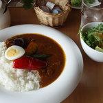 フラワーガーデン花カフェ はやさか - 夏野菜カレー