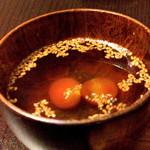44071115 - 塩トマト入りの野菜の出汁スープ