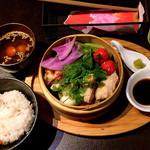 44071125 - セイロ蒸しランチ〜鶏モモ〜(1000円)