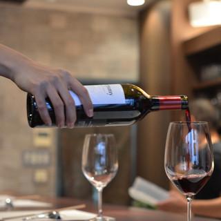 ワインをはじめとする豊富な種類のドリンク