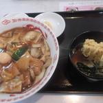44079851 - 中華丼とラーメンのセット。