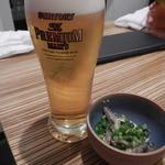 うま翔 - 生ビール&お通し