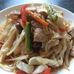 栄康園 - 中華屋さんの肉野菜炒め