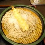 江戸せいろう蕎麦 - ゆで太郎(ゆで太郎システム)のもり320円+おろし60円+海老天120円