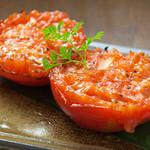丸ごとトマトの炉端焼