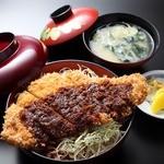 和風レストラン しんりん - 上州麦豚の「わらじソースカツ丼」1000円