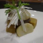 北新地 和伊屋 - 夏野菜とこんにゃくと高野豆腐の和風アヒージョ