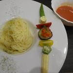 北新地 和伊屋 - 和風バジルソースの冷製つけ麺風パスタ
