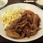 中国料理 蘭州 - 生姜焼き