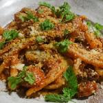 カパンナドルソ - もつのトマトソース ピーチ
