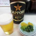 ファイト餃子 - 瓶ビール