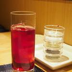 天ぷら新宿つな八 - クランベリードリンク