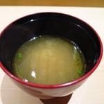 江戸前鮓 すし通 - お味噌汁 「和風ブイヤベース」