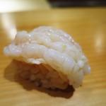 江戸前鮓 すし通 - 甘海老の湯霜握り