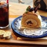サザコーヒー - ★モンブランロール&アイスコーヒー★