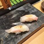 44095370 - 白身食べ比べ(鯛と平目)♪