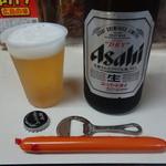 田中屋酒店 - 中瓶は320円。ソーセージ(小)は40円。