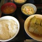 遊食楽酒 舫 - ロールキャベツ定食