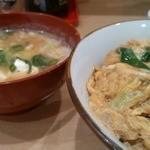 あづま - 玉丼400円+味噌汁卵入り150円