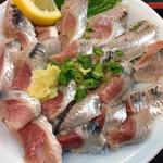 いわし料理 すゞ太郎 - イワシの刺身がてんこ盛り!