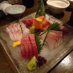 4411218 - 鮮魚の刺身5点盛り
