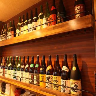 純米燗酒を中心に食事と楽しめるお酒が自慢です!