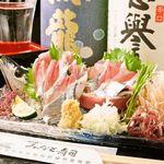 魚浜 - サンマ(刺し・握り・焼き)