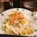 なぎ屋 - 豆腐サラダ。ドレッシング美味かったですね。