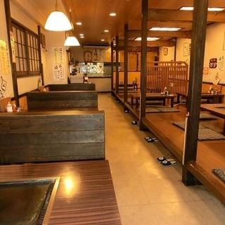広々とした空間でゆっくりとお料理をお楽しみいただけます!