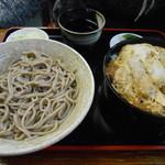 たけのや - カツ丼+蕎麦