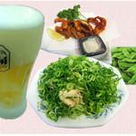 多度津 - 生ビールセット1100円