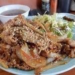 南京路 - 「牛肉みそゴマ炒め定食」