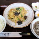 珍宴 - 豚肉ときくらげの玉子炒め定食(2015/11/05撮影)