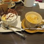 アット イーズ カフェ - ブレンドとアイス