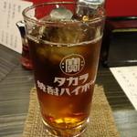 餃子 唐揚げ 紅鯨 - ☆ウーロン茶のグラスは大きめサイズ☆
