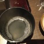 くはら - そば湯の丸湯桶