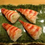 鮨 さるたひこ - 平成25年7月 車海老 この茹で加減や味噌の残し加減が絶妙