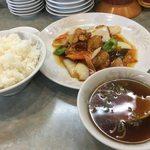 与志富 - ランチ 酢豚定食