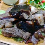 44146700 - 栗原漢方和牛イチボ肉のグリル