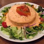44147197 - 完熟トマトと4種類のチーズフォンデュパンケーキ(\1,200)