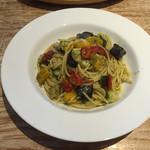 サラデリ - 彩り野菜のバジルソース