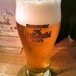 旬菜ダイニング らかんか - まずはビール♪