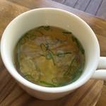 オッコ ベーグル - ランチのスープ  すり身スープ おいしく頂きました (*´ڡ`●)