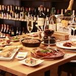 ワイン酒場。 - テーブル食事一例
