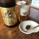竹やぶ - ビールと蕎麦味噌